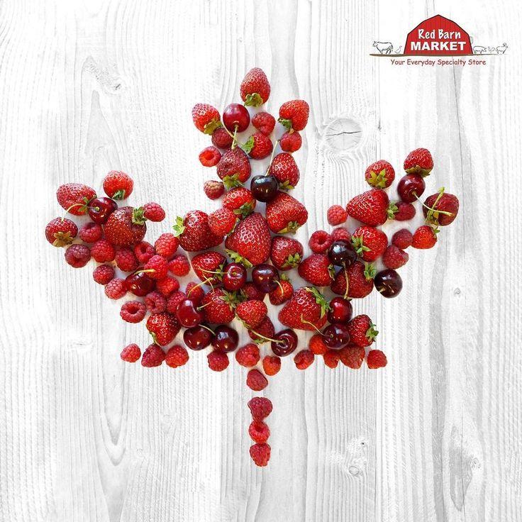 Happy Canada Day Everyone! 🍁🍓⠀ ⠀ #canada #canadaday #canada150 #yyj #victoria #strawberries #cherries #raspberries #bcgrown