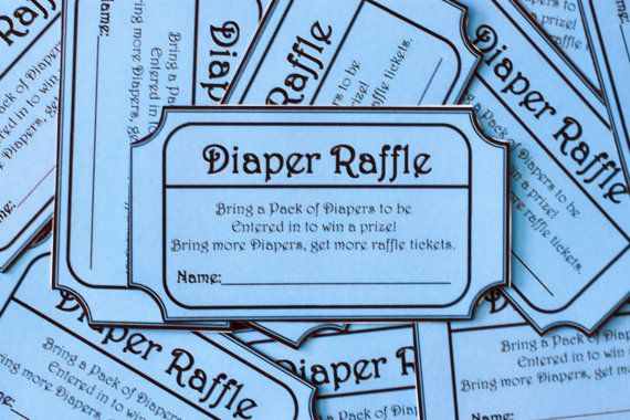 blue printable baby shower diaper raffle ticket fireman baby shower