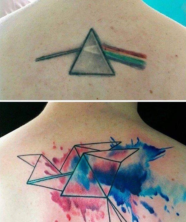 Uma ideia criativa e um bom profissional podem transformar uma tatuagem detestável em algo sensacional