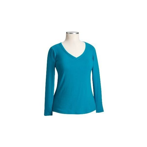 Old Navy Womens Plus Size Jersey V-Neck Tees (20 BRL) ❤ liked on Polyvore featuring tops, t-shirts, plus long-sleeved shirts, women, t shirt, plus size shirts, plus size long sleeve shirts, plus size v neck t shirts and blue long sleeve shirt