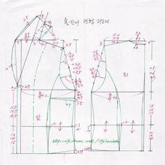 숄칼라 변형 생활한복 - 여자생활한복만들기 - 맨드리생활한복