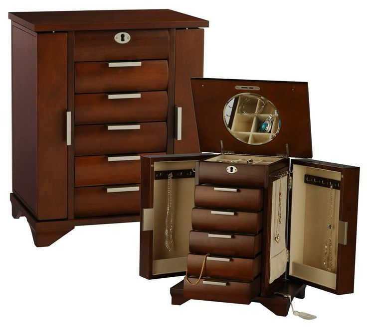 Wooden jewelry box with lock and key woodworking for Jewelry box with key