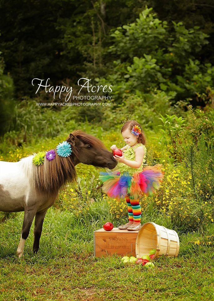 Be Inspired Photography ideas: Pets - uhm this little girl and her dressed up pony are too cute