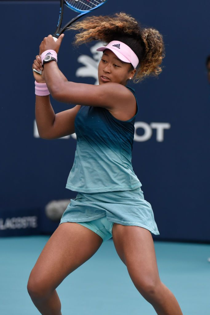 Miami Gardens Fl March 23 Naomi Osaka From Japan Loses Her Third Round Match At The Miami Open On Satu Tennis Players Female Tennis Players Female Athletes