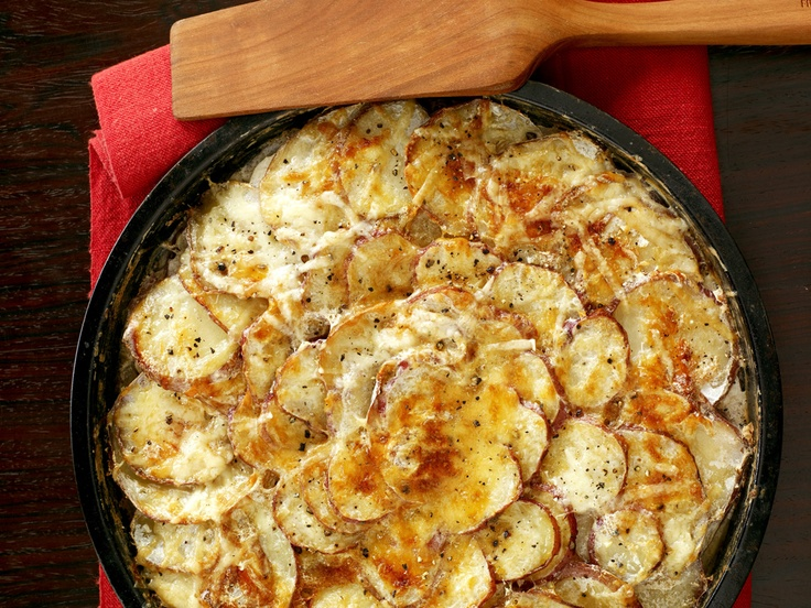 Scalloped potatoes with cheese, Potatoes and Love on Pinterest