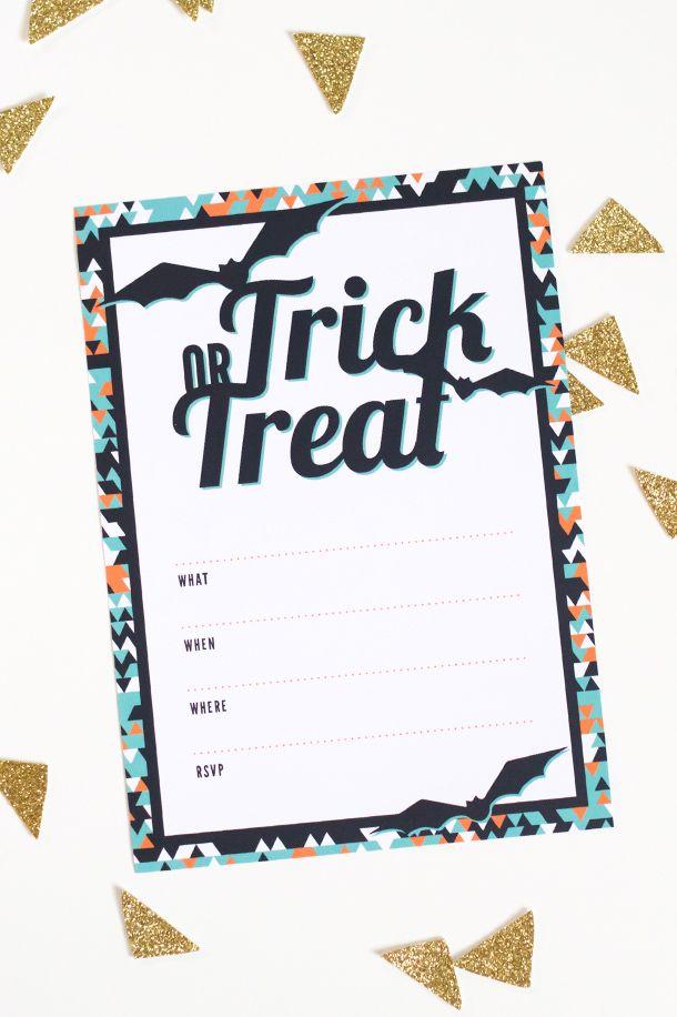 printable halloween party invitation halloween pinterest
