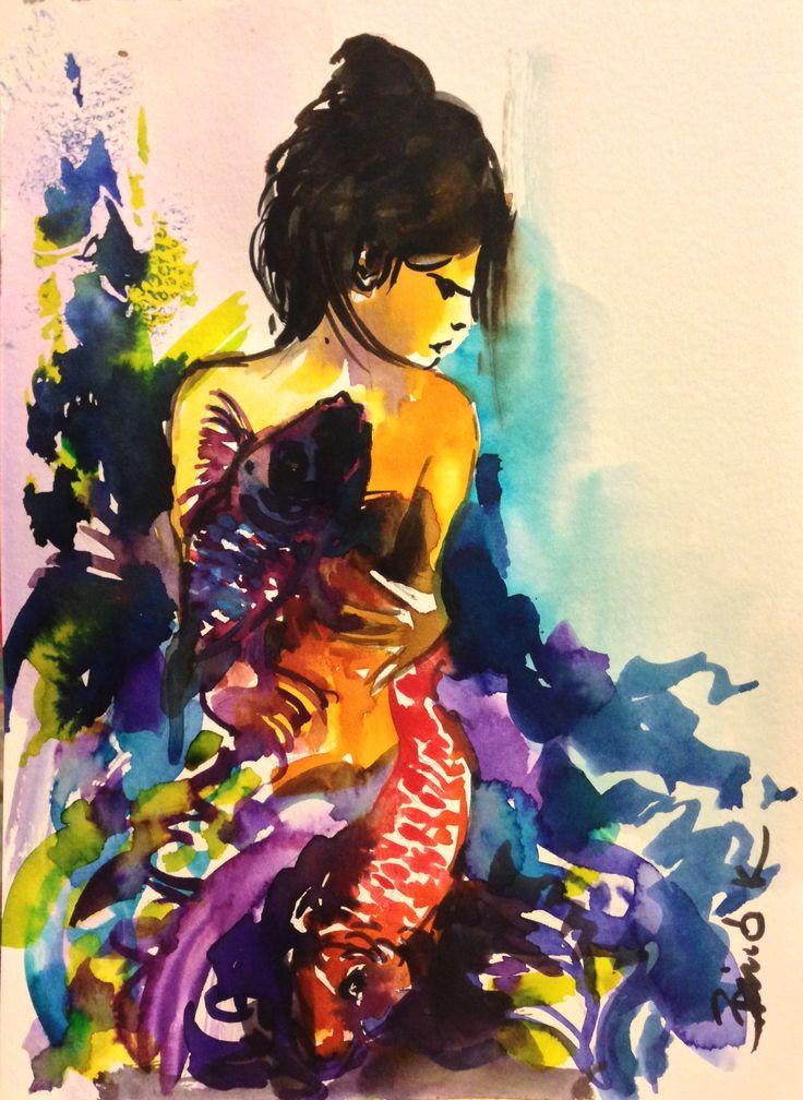 Kozaisho watercolor art by Konrad Biro