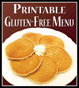 Gluten free pancakes at Walker Bros Menu!