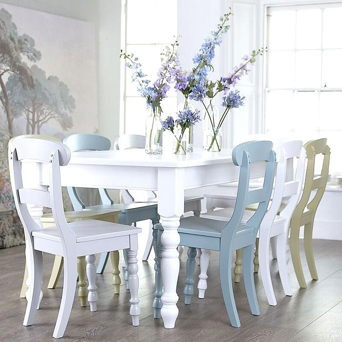 15 best images about ideas for kitchen table chairs on for Different color chairs
