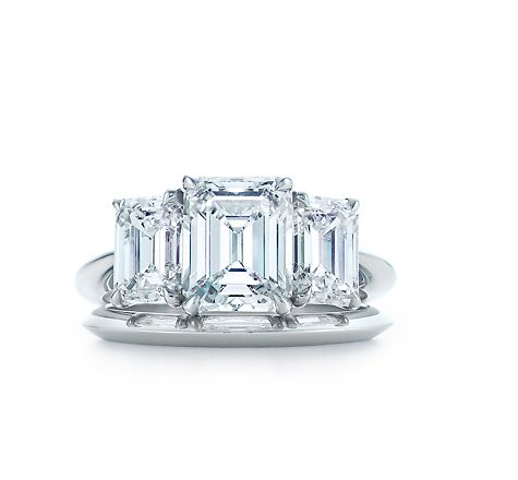 Tiffany & Co. | Engagement Rings | Emerald Cut Three Stone | United States
