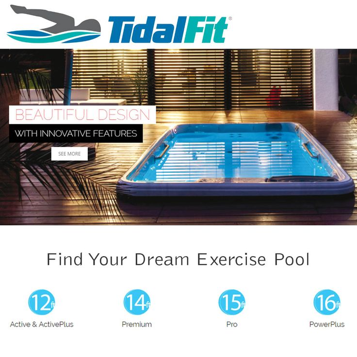 TidalFit Exercise Pools are the best on the market! Choose the right size that fits your space from: www.tidalfit.com #exercise #pool