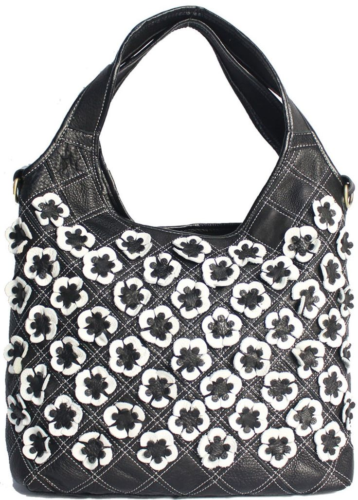 Heshe Shoulder Crossbody Tote Bags Handbags for Women with Flowers Multi-color Hot Sell (Black&white). Double top handle with designer by many candy color flowers decorations. High quality anti-gold hardware and luxury durable polyester lining for this bag. Interior pockets: 1 great spare , 2 zippers, 1 inner pocket,2 small ID pockets. Zipper closure. Removable and adjustable shoulder strap, you can have 3 carrying options (Single shoulder handbag, cross body and hand carry). Size info:...