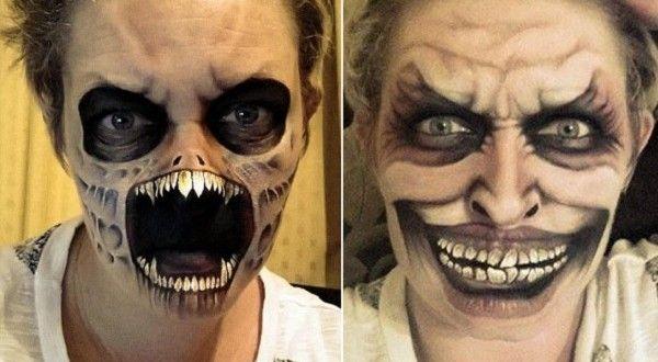 Dona de casa faz sucesso na web com suas maquiagens assustadoras