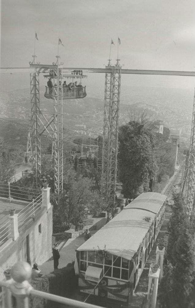 Funicular Tibidabo Barcelona 1950