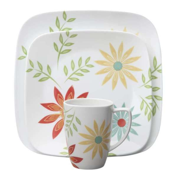 Corelle Square Happy Days 16-Piece Dinnerware Set  sc 1 st  Pinterest & 62 best new dishes images on Pinterest | Dish sets Dishes and ...