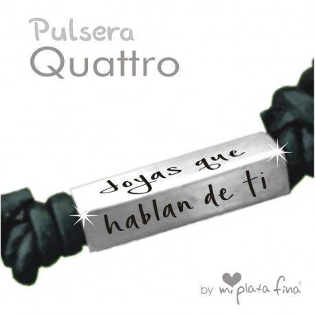 Pulsera, grabada, cuatro lados, joyas personalizadas de plata. Personaliza la tuya como quieras en www.miplatafina.es #joyasqueblandeti #miplatafina