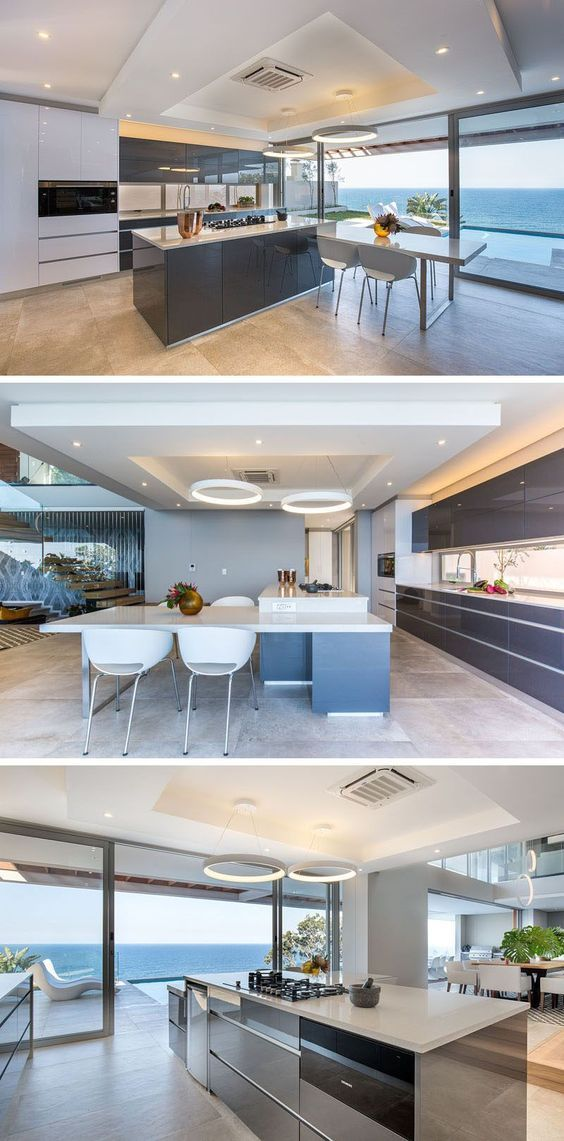 This Modern Kitchen Has A Built In Casual Dining Space, And Sleek Cabinetry  Without