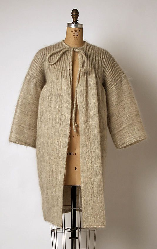 Geoffrey Beene 1970s Culture: American Medium: mohair, wool