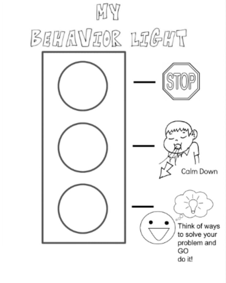 free self discipline coloring pages   Behavior Stop Light coloring page I created for my kiddos ...