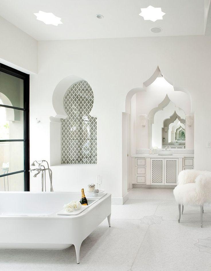 Breng Marokko in jouw badkamer! Met een paar kleine (of grote) aanpassingen heb je zo een Marokkaanse badkamer voor bij jou thuis. Klik voor inspiratie! #bathoom