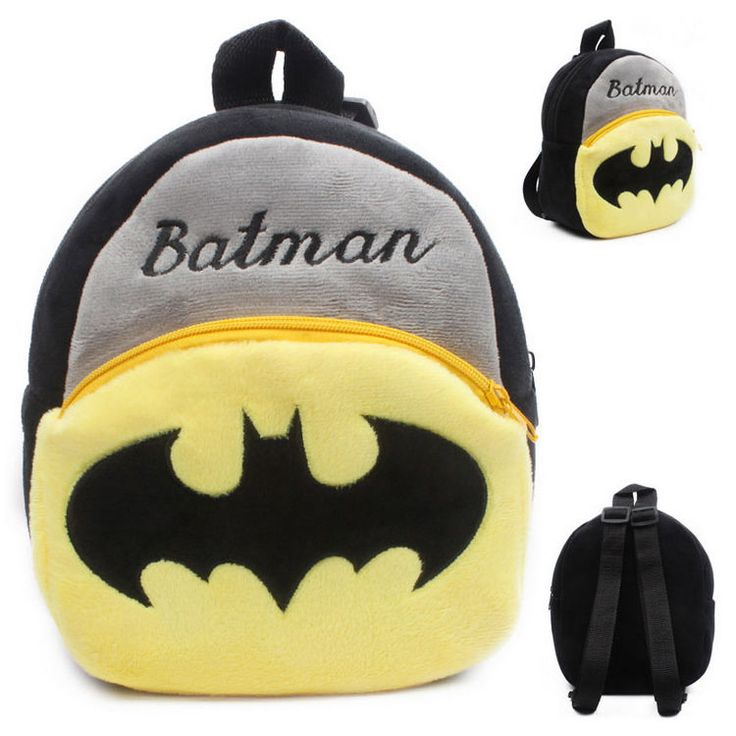 Kids Batman School Shoulder Bag Toy Rucksack Backpack AB09