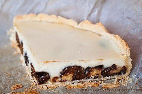 Сказочный пирог с черносливом и сметаной.
