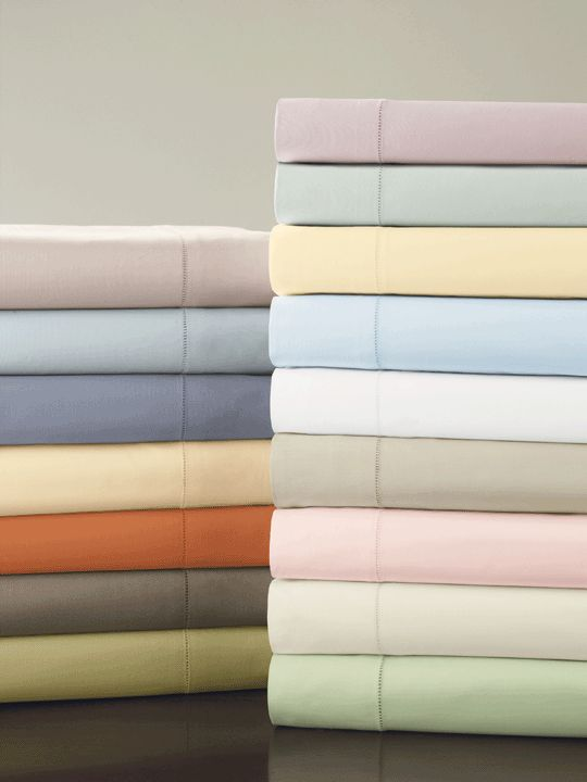 celeste bed linens by sferra detailed with a handdrawn hemstitch available in 16 colors made from egyptian cotton percale