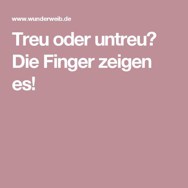 Treu oder untreu? Die Finger zeigen es!
