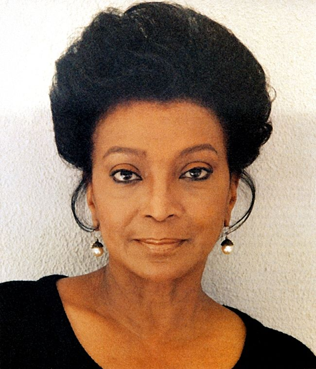 Nichelle Nichols (Uhura)  I've thought she was beautiful since I was a kid watching the original show. Love her!