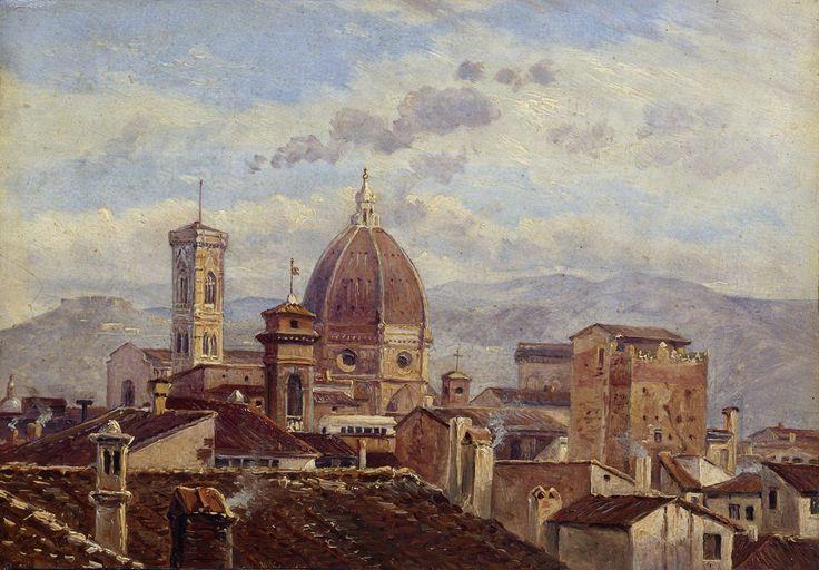 1977.    Italie.         Carl_Gustav_Carus_- vue de Florence