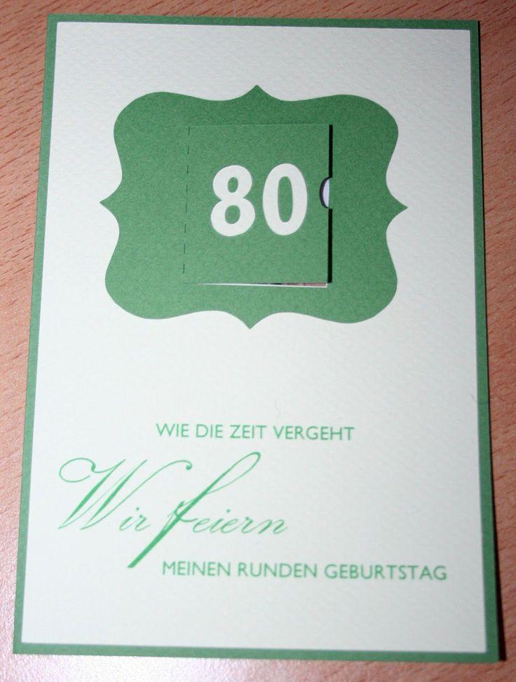 142 besten 80. geburtstag bilder auf pinterest | basteln, Einladung