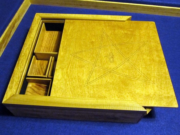 Ready to play storage solution for the game elder sign by for Board game storage solutions