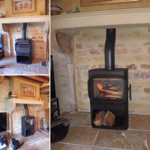 Les 25 meilleures id es de la cat gorie bucher bois sur - Installation poele a bois dans cheminee ...