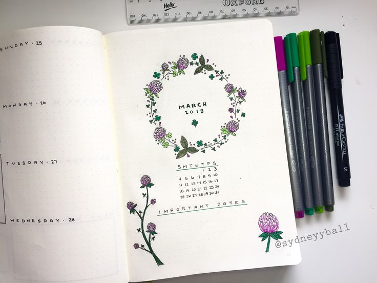 march bullet journal cover      by  sydneyyball       insufficientadult com