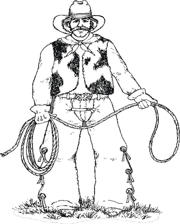 cowboy pictures coloring pages - photo#44