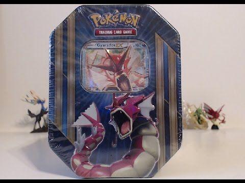 Opening A Pokemon Gyarados EX Tin!