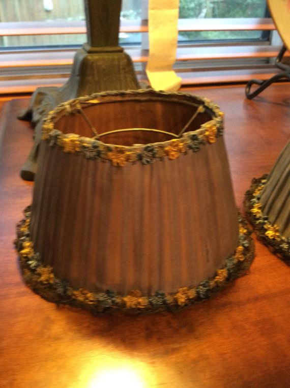 Antique small lamp shades