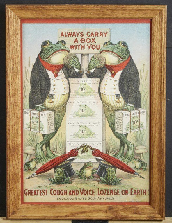 Frog in your Throat? Advertisement : Lot 194