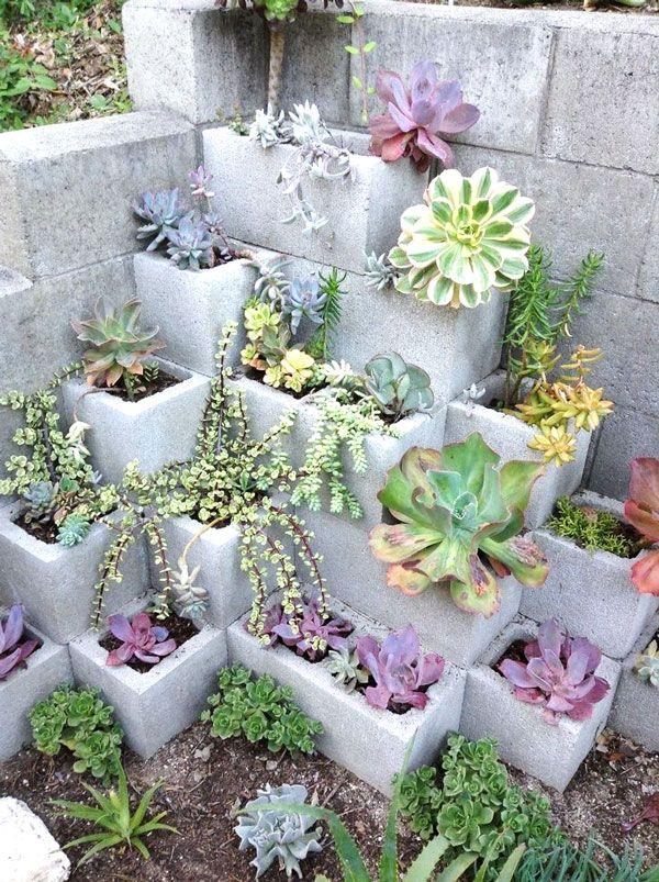Décorer avec des blocs de ciment! 17 idées créatives… Laissez-vous inspirer!