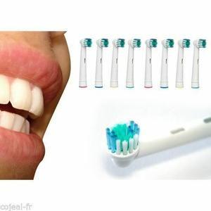 16 BROSSETTES GENERIQUE COMPATIBLE ORAL B  PRECISION CLEAN  S'adapte à toutes les brosses à dents Oral-B   Sauf  SONIC VITALITY et SONIC COMPLETE séries .   4 Blister