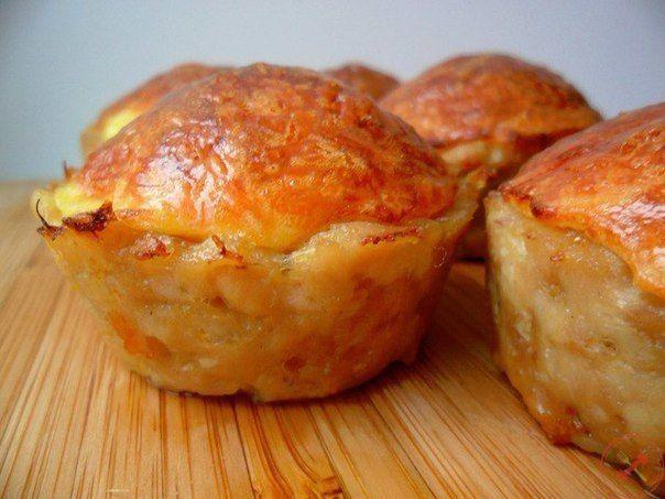 Куриные кексы с сырной начинкой
