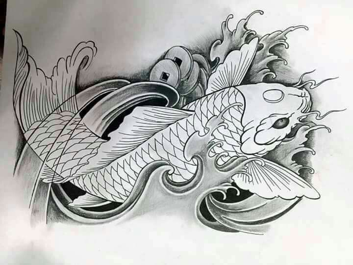 392 best carpas images on pinterest fish tattoos japan for Japanese koi design