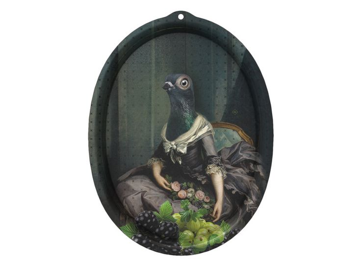 The ibride Isild Le Boudoir Tray can be hung on the wall as a piece of art or can be used as a serving tray.