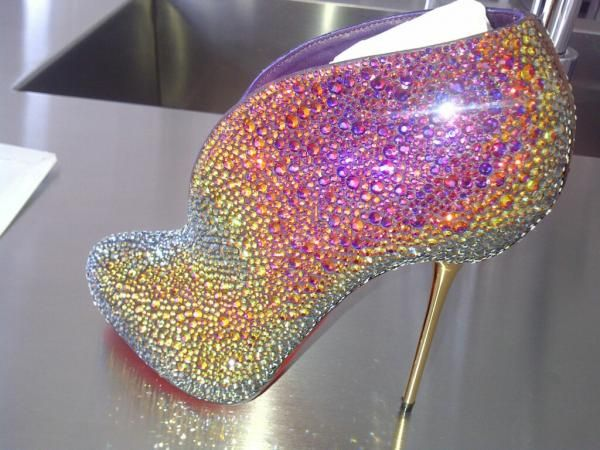 Christian Louboutin colorful crystal ❀ wow these r amazing!