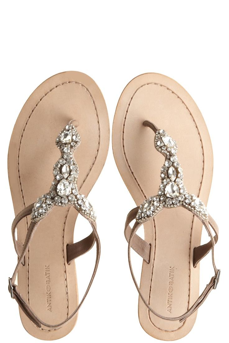 Sandals honeymoon shoes with rhinestone - Akan Neutral Rhinestone Sandals