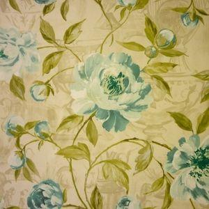 Full Bloom Duck Egg 100% cotton 137cm |64cm Curtaining