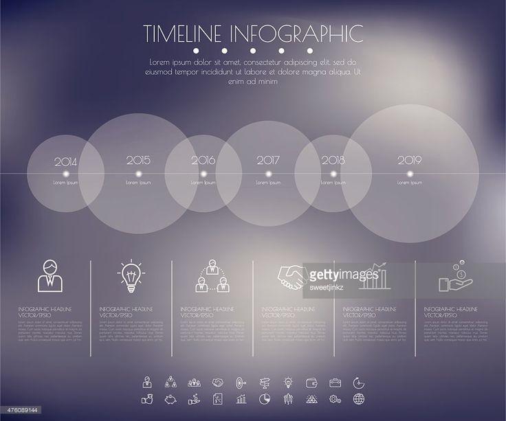 Vektorgrafik : Timeline Circles Infographic. Flat Vector design template.