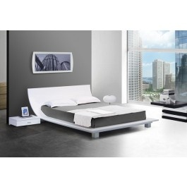 Firenze White Lacquer Platform Bed