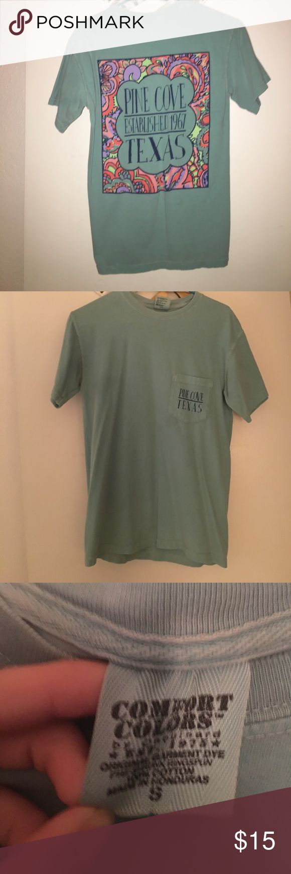 pine cove camps comfort colors tshirt super cute tshirt i got at summer camp, no longer fits that's why i'm selling comfort colors Tops Tees - Short Sleeve