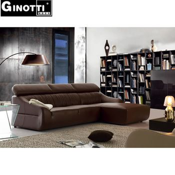 Extra Long Intergrated Genuine Leather Sofa